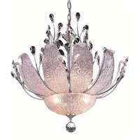 Elegant Lighting Orchid 12 Light Dining Chandelier in Chrome with Elegant Cut Clear Crystal 2010D27C/EC