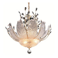 Elegant Lighting Orchid 12 Light Dining Chandelier in Gold with Swarovski Strass Clear Crystal 2010D27G/SS
