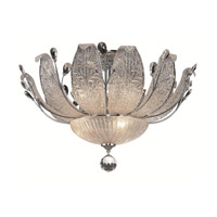 Elegant Lighting Orchid 11 Light Flush Mount in Chrome with Swarovski Strass Clear Crystal 2010F27C/SS