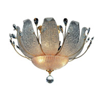 Elegant Lighting Orchid 11 Light Flush Mount in Gold with Swarovski Strass Clear Crystal 2010F27G/SS alternative photo thumbnail