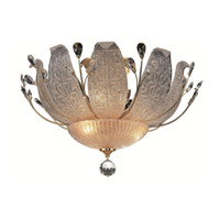 Elegant Lighting Orchid 11 Light Flush Mount in Gold with Swarovski Strass Clear Crystal 2010F27G/SS