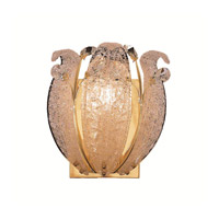 Elegant Lighting Orchid 1 Light Wall Sconce in Gold with Elegant Cut Clear Crystal 2010W11G/EC