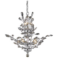 Elegant Lighting Orchid 8 Light Dining Chandelier in Chrome with Royal Cut Golden Teak Crystal 2011D21C-GT/RC