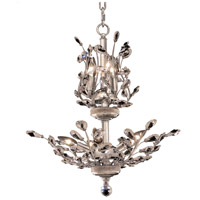 Orchid 8 Light 21 inch Chrome Dining Chandelier Ceiling Light in Clear, Swarovski Strass