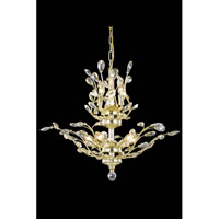 Elegant Lighting Orchid 8 Light Dining Chandelier in Gold with Royal Cut Golden Shadow Crystal 2011D21G-GS/RC