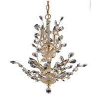 Elegant Lighting Orchid 8 Light Dining Chandelier in Gold with Swarovski Strass Clear Crystal 2011D21G/SS
