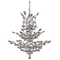 Elegant Lighting Orchid 13 Light Dining Chandelier in Chrome with Royal Cut Golden Teak Crystal 2011D27C-GT/RC