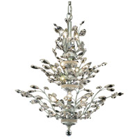 Elegant Lighting Orchid 13 Light Dining Chandelier in Chrome with Elegant Cut Clear Crystal 2011D27C/EC