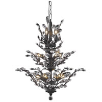 Elegant Lighting Orchid 13 Light Dining Chandelier in Dark Bronze with Elegant Cut Clear Crystal 2011D27DB/EC