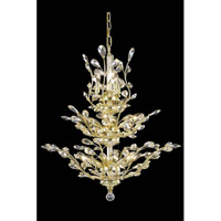 Elegant Lighting Orchid 13 Light Dining Chandelier in Gold with Royal Cut Golden Shadow Crystal 2011D27G-GS/RC
