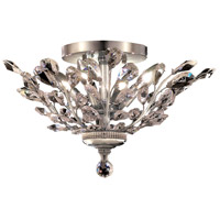 Elegant Lighting Orchid 4 Light Flush Mount in Chrome with Swarovski Strass Clear Crystal 2011F20C/SS