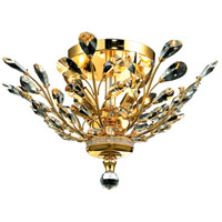 Elegant Lighting V2011F20G/RC Orchid 4 Light 20 inch Gold Flush Mount Ceiling Light in Clear, Royal Cut