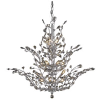 Elegant Lighting Orchid 18 Light Foyer in Chrome with Royal Cut Golden Teak Crystal 2011G41C-GT/RC