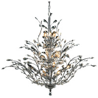 Elegant Lighting Orchid 18 Light Foyer in Chrome with Swarovski Strass Clear Crystal 2011G41C/SS