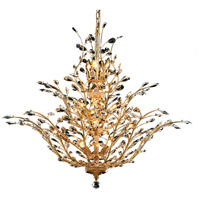 Elegant Lighting Orchid 18 Light Foyer in Gold with Swarovski Strass Clear Crystal 2011G41G/SS