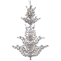 Elegant Lighting Orchid 25 Light Foyer in Chrome with Elegant Cut Clear Crystal 2011G54C/EC