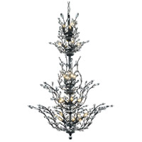 Elegant Lighting Orchid 25 Light Foyer in Dark Bronze with Elegant Cut Clear Crystal 2011G54DB/EC