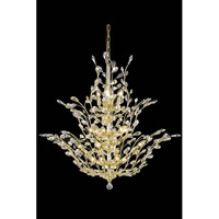 Elegant Lighting Orchid 25 Light Foyer in Gold with Royal Cut Golden Shadow Crystal 2011G54G-GS/RC