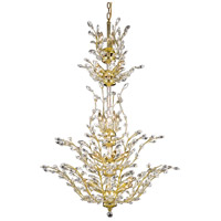 Elegant Lighting Orchid 25 Light Foyer in Gold with Royal Cut Clear Crystal 2011G54G/RC
