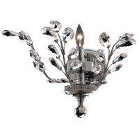 Elegant Lighting Orchid 1 Light Wall Sconce in Chrome with Elegant Cut Clear Crystal 2011W16C/EC
