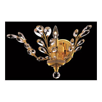 Elegant Lighting Orchid 1 Light Wall Sconce in Gold with Spectra Swarovski Clear Crystal 2011W16G/SA alternative photo thumbnail