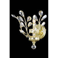 Elegant Lighting Orchid 1 Light Wall Sconce in Gold with Royal Cut Golden Shadow Crystal 2011W16G-GS/RC