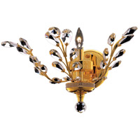 Elegant Lighting Orchid 1 Light Wall Sconce in Gold with Spectra Swarovski Clear Crystal 2011W16G/SA
