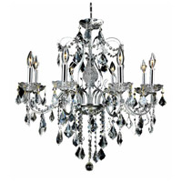 Elegant Lighting V2015D26C/SA St. Francis 8 Light 26 inch Chrome Dining Chandelier Ceiling Light in Clear, Spectra Swarovski, (None) alternative photo thumbnail