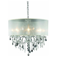 St. Francis 8 Light 26 inch Chrome Dining Chandelier Ceiling Light in Clear, Royal Cut, Silver Shade