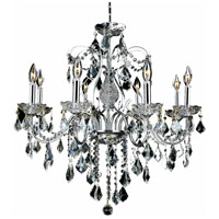 Elegant Lighting St. Francis 8 Light Dining Chandelier in Chrome with Elegant Cut Clear Crystal 2015D26C/EC