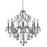 Elegant Lighting St. Francis 8 Light Dining Chandelier in Dark Bronze with Swarovski Strass Clear Crystal 2015D26DB/SS