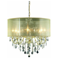 St. Francis 8 Light 26 inch Gold Dining Chandelier Ceiling Light in Clear, Royal Cut, Gold Shade