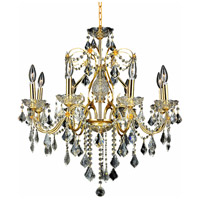 Elegant Lighting St. Francis 8 Light Dining Chandelier in Gold with Swarovski Strass Clear Crystal 2015D26G/SS