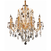 Elegant Lighting St. Francis 12 Light Dining Chandelier in Gold with Elegant Cut Clear Crystal 2015D28G/EC