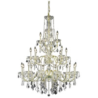 Elegant Lighting V2015G36G/SS St. Francis 24 Light 36 inch Gold Foyer Ceiling Light in Swarovski Strass