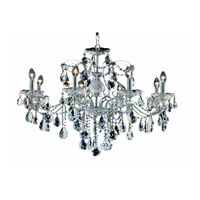 Elegant Lighting 2016D26C/RC St. Francis 8 Light 26 inch Chrome Dining Chandelier Ceiling Light in Royal Cut, (None) alternative photo thumbnail