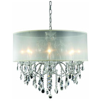 St. Francis 8 Light 26 inch Chrome Dining Chandelier Ceiling Light in Royal Cut, Silver Shade