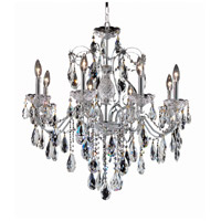 Elegant Lighting St. Francis 8 Light Dining Chandelier in Chrome with Elegant Cut Clear Crystal 2016D26C/EC