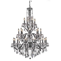 Elegant Lighting St. Francis 24 Light Foyer in Dark Bronze with Royal Cut Clear Crystal 2016G36DB/RC