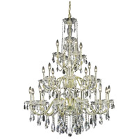Elegant Lighting 2016G36G/SS St. Francis 24 Light 36 inch Gold Foyer Ceiling Light in Swarovski Strass