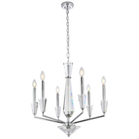 Elegant Lighting 2017D24C Trident 6 Light 24 inch Chrome Pendant Ceiling Light photo thumbnail