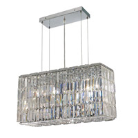 Elegant Lighting 2018D26C/EC Maxime 8 Light 9 inch Chrome Dining Chandelier Ceiling Light in Clear, Elegant Cut alternative photo thumbnail
