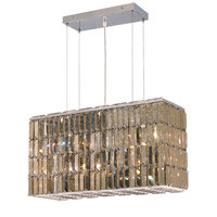 Maxim 8 Light 9 inch Chrome Dining Chandelier Ceiling Light in Golden Teak, Swarovski Strass