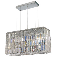 Maxime 8 Light 9 inch Chrome Dining Chandelier Ceiling Light in Clear, Swarovski Strass
