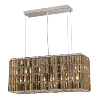 Elegant Lighting Maxim 8 Light Dining Chandelier in Chrome with Royal Cut Golden Teak Crystal 2018D32C-GT/RC alternative photo thumbnail