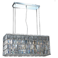Elegant Lighting Maxim 8 Light Dining Chandelier in Chrome with Elegant Cut Clear Crystal 2018D32C/EC