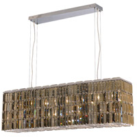 Elegant Lighting Maxim 8 Light Dining Chandelier in Chrome with Swarovski Strass Golden Teak Crystal 2018D44C-GT/SS