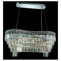 Elegant Lighting Maxim 14 Light Dining Chandelier in Chrome with Elegant Cut Clear Crystal 2019D32C/EC alternative photo thumbnail