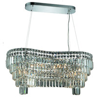 Elegant Lighting Maxim 14 Light Dining Chandelier in Chrome with Elegant Cut Clear Crystal 2019D32C/EC