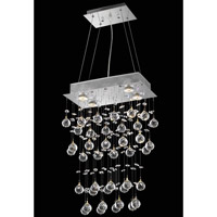 Elegant Lighting Galaxy 4 Light Dining Chandelier in Chrome with Swarovski Strass Clear Crystal 2021D16C(LED)/SS
